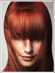 Red Head - long bangs